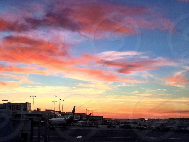 sunset; flight; adventure;  photo