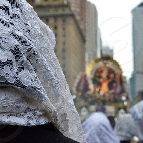 Catholic procession. NYC Midtown.  photo