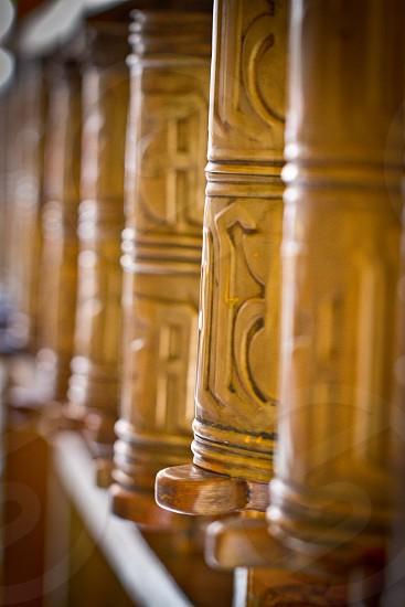Prayer Wheels Tibet China photo