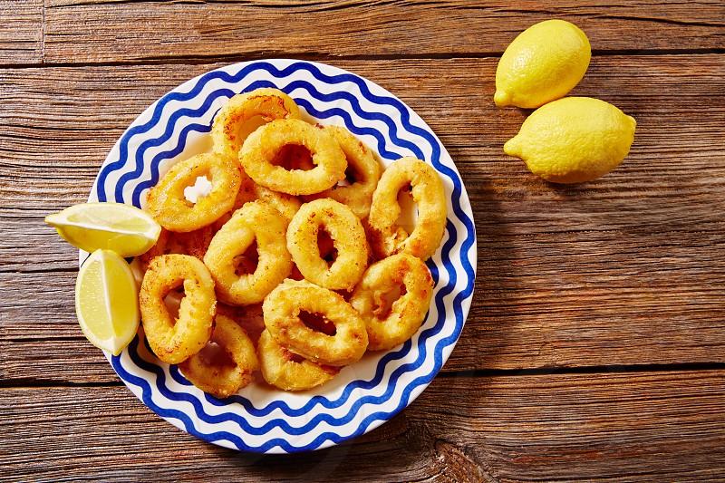 Tapas calamari romana squid rings seafood from Spain photo