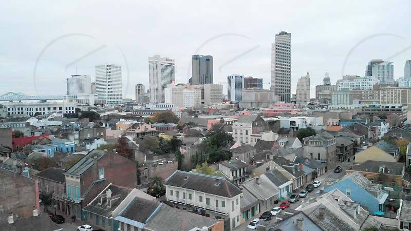 French Quarter New Orleans drone shot photo