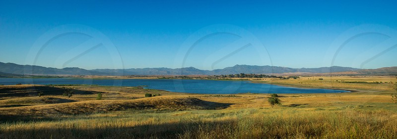 Landscape lake henshaw summer California  photo
