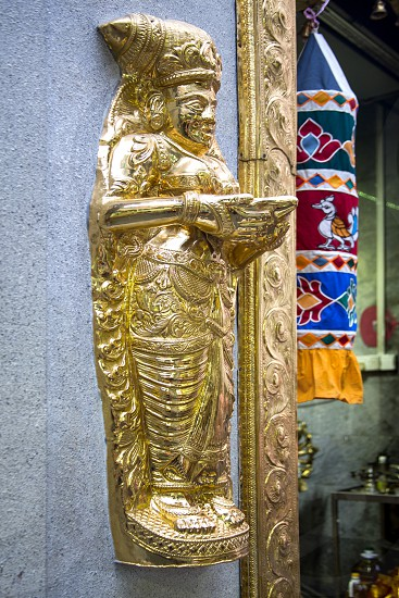 Sculptures and decoration in a Hindu temple Temple of Sri Veeramakaliamman in Singapore photo
