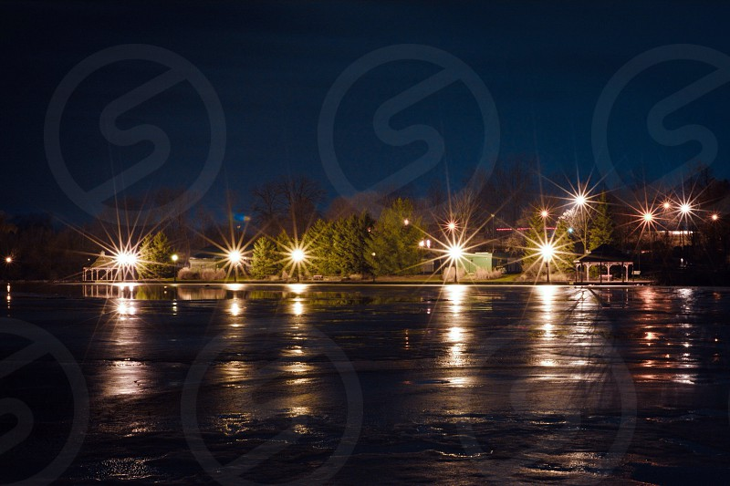 """""""star light"""" reflections in the park  photo"""