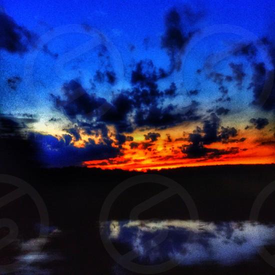 Arkansas roadtrip sunset lake pretty photo