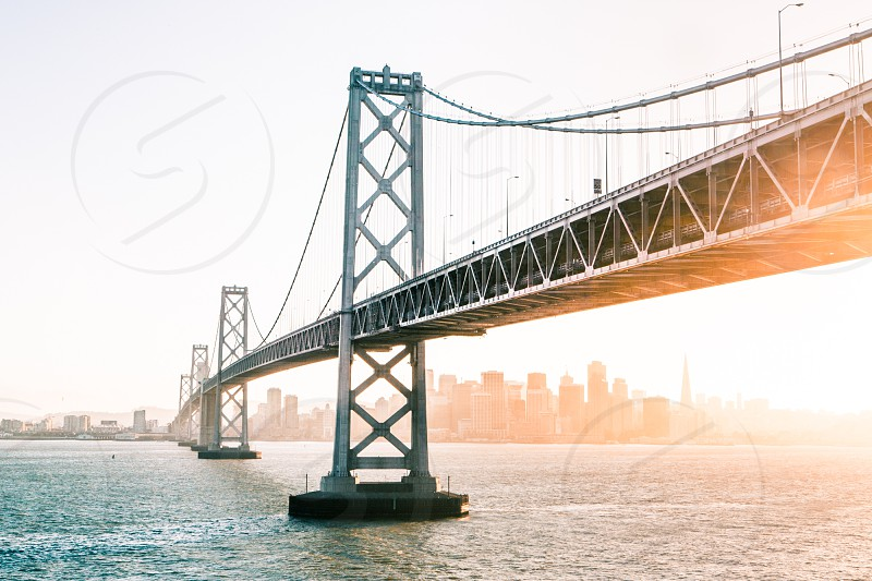 Bay Bridge Commute Transportation  Travel Adventure Nature Light Sunset Exploration Fitness Lifestyle  California San Francisco photo