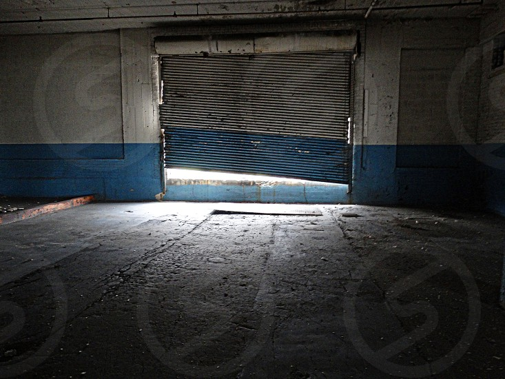 creepy garage door photo
