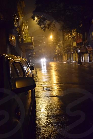Hanoi Vietnam at night photo
