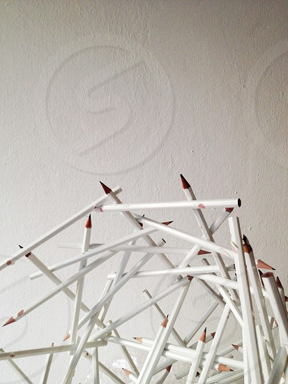 white pencils photo