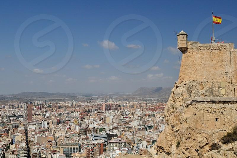 Santa Bárbara Castle and Alicante city view photo