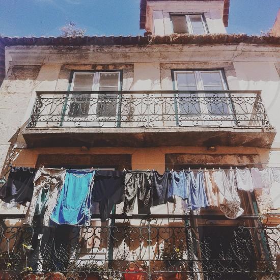 clothes hang outside photo