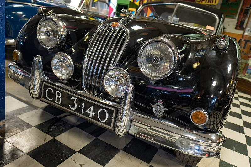 Classic Jaguar XK140 1956 in the Motor Museum at Bourton-on-the-Water photo