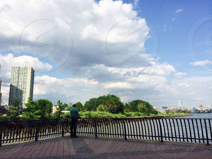 The view at the waterfront near the mall  photo