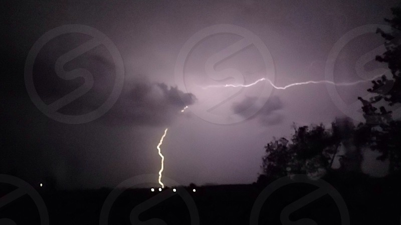 Lighting storm beautiful bright nature photo