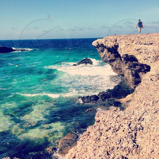 Cliffs in Aruba photo