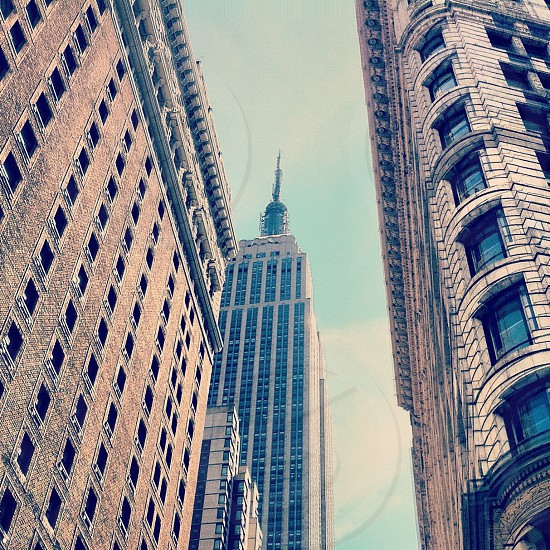 tall brown buildings photo