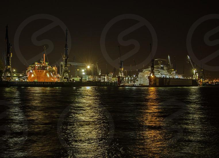Shipyard at Night photo