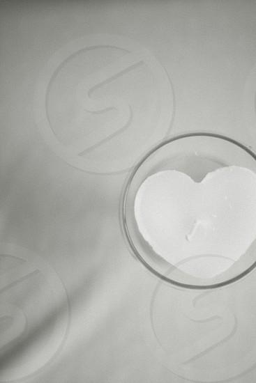 Heart shaped wedding candle photo