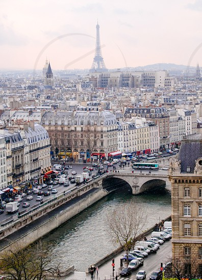 high angle photo of city view of paris france during daytime photo