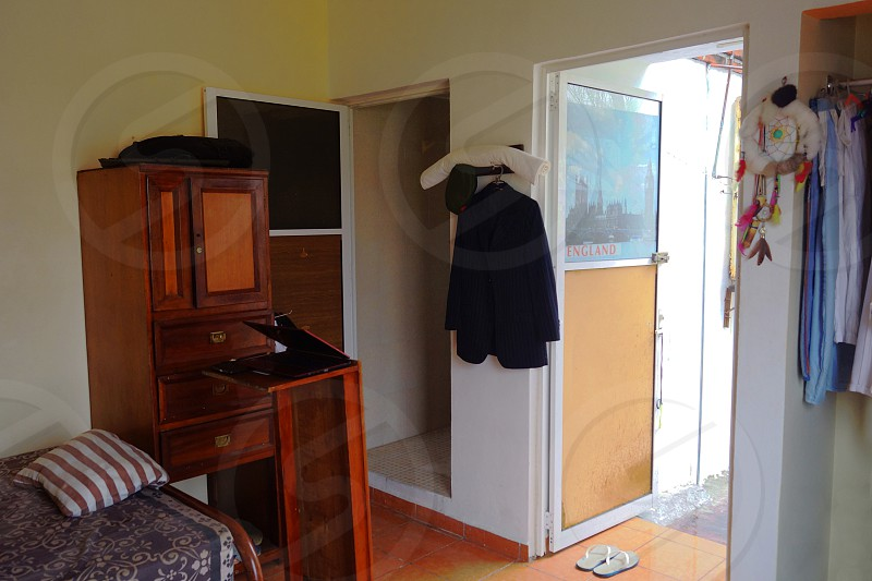 View of a renter's room from inside the room. photo