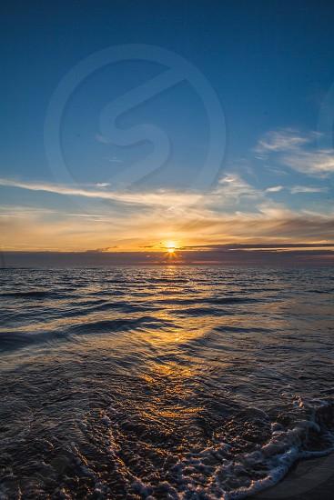 sunset egmond sea clouds photo