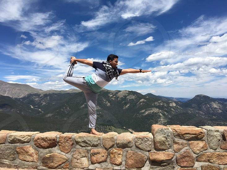 Summer yoga photo