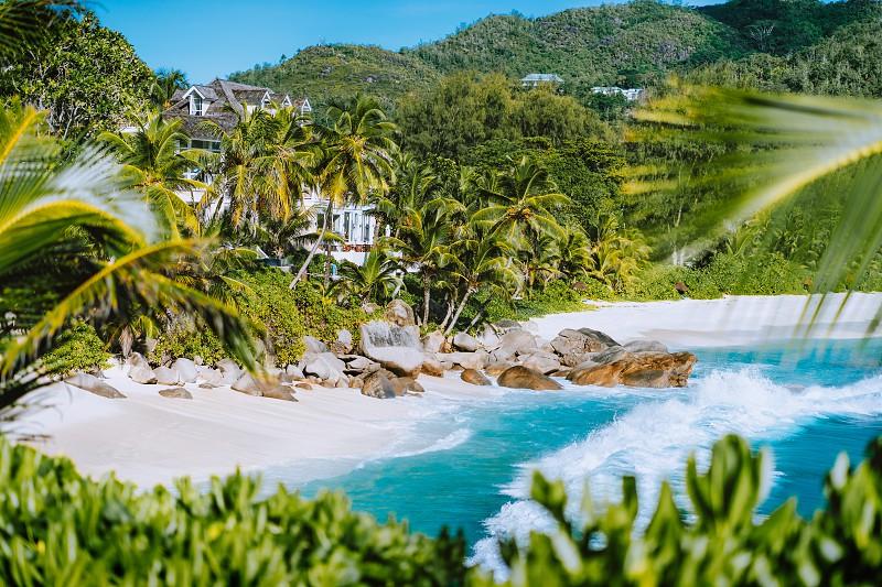 Beautiful Exotic Beach Anse Intendance At Seychelles Mahe Island Holiday Vacation Destination By Igor Tichonow Photo Stock Snapwire