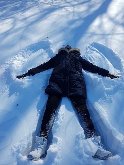 snow angel snow winter photo