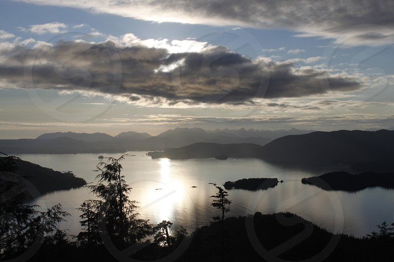 view from Harbor Mountain in Sitka AK photo