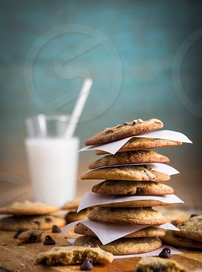 Comfort Food - Chocolate Chip Cookies and Milk photo