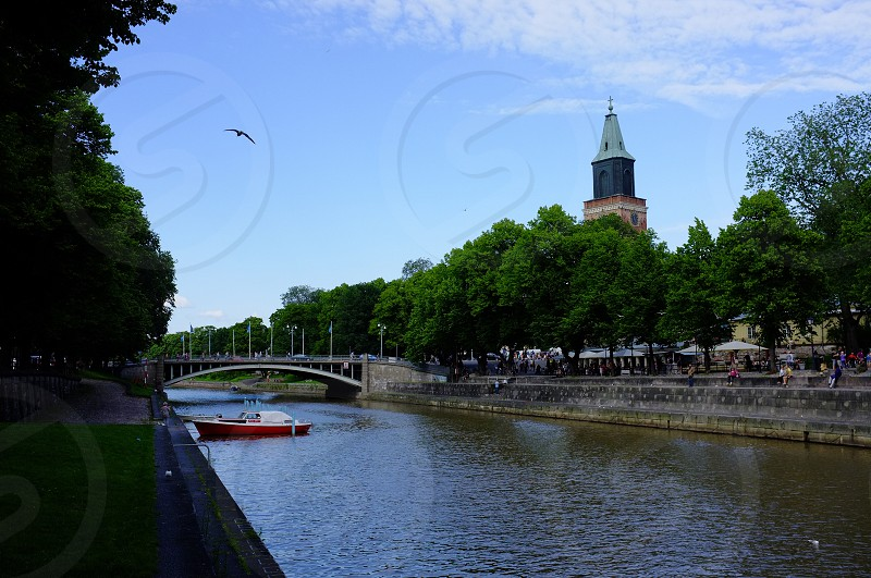 Aura river Turku Finland photo