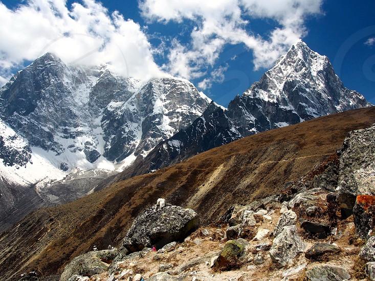 Nepal Himalayas mountains trekking hiking explore nature adventure photo