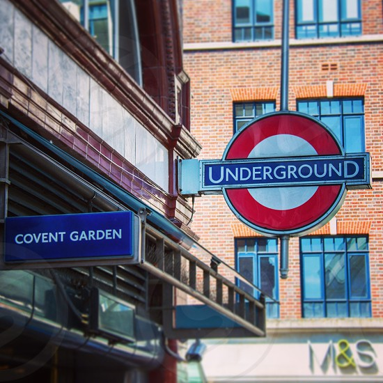 London City underground Covent Garden tube station photo