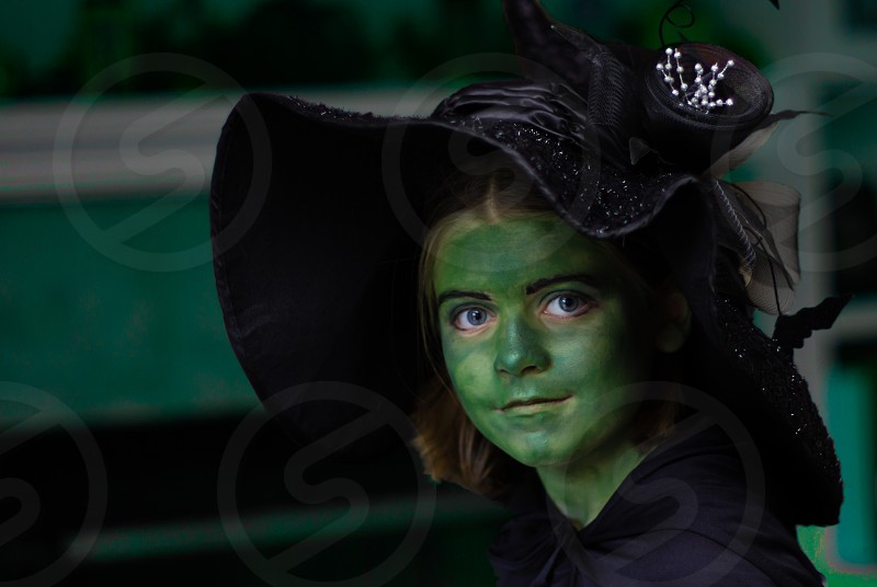 girl costume witch photo