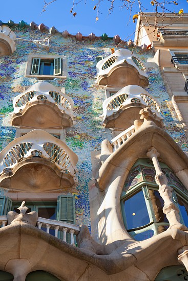 Barcelona Casa Batllo facade of Gaudi in Paseo de Gracia photo