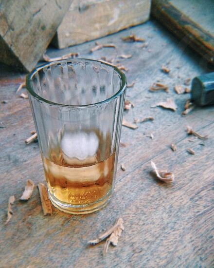 Glass of whiskey photo