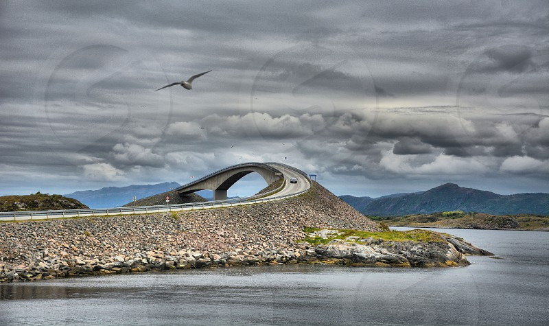 Atlantic road west coast of Norway photo