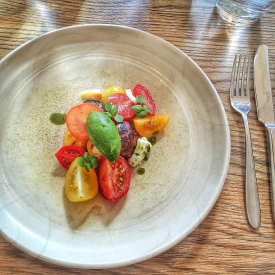 Tomato mozzarella salad London restaurant lunch healthy  photo