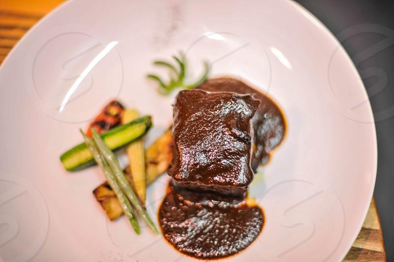piece of steak photo