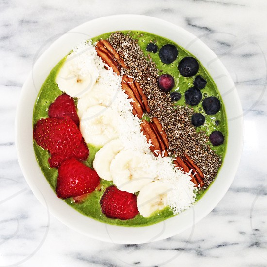 Breakfast smoothie bowl photo