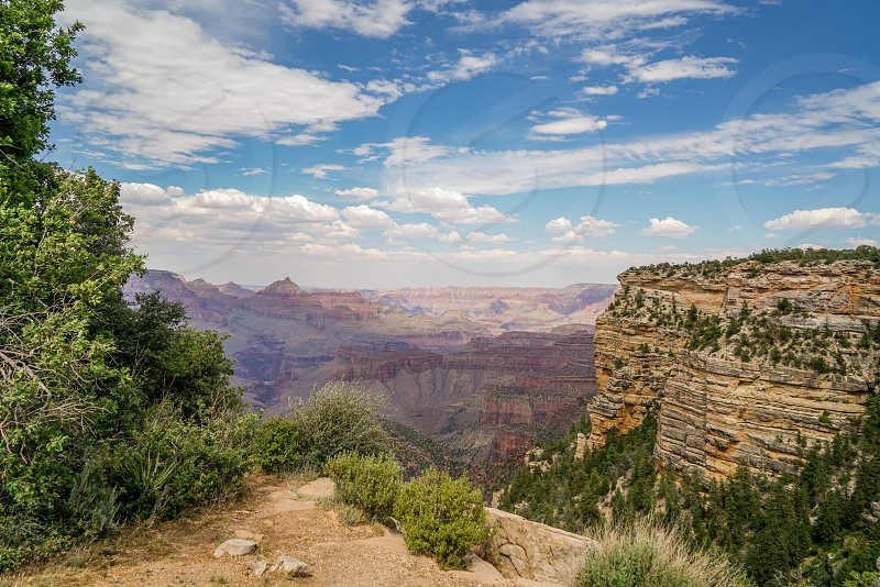 Views from the south rim of the Grand Canyon in northern Arizona. I could have spent all day taking shots of this magnificent natural phenomenon. photo