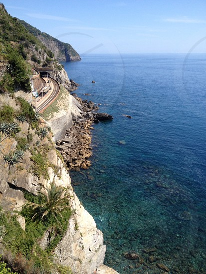 Taking the train to Cinque Terre Italy photo