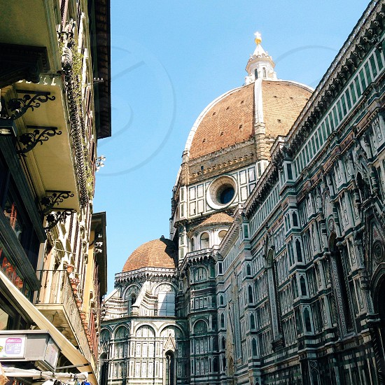 brown basilica dome Italy photo