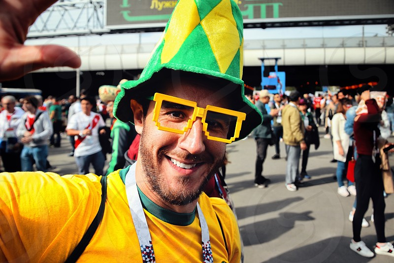 Brazil football fan  photo
