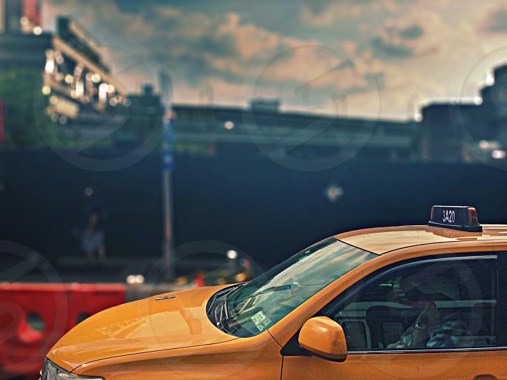 yellow taxi cub photo