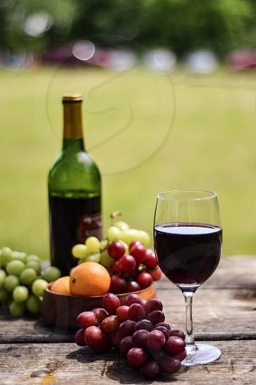 Wine glass red wine Rose wine glass Rose glass alcohol  photo