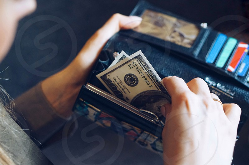 Finance planning retail shopping personal finance banking cash dollars money business payment shopping wallet cash payment cash money  photo