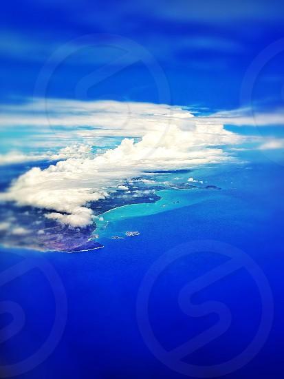 Honolulu HI from the sky  photo