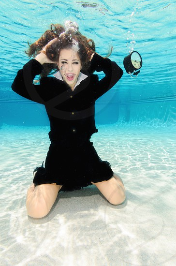 Underwater at work and out of time.  photo