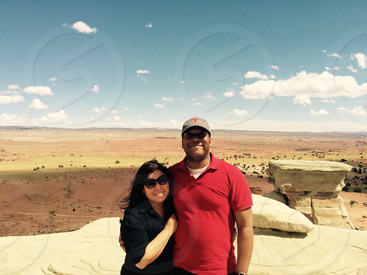 Couple traveling through Utah #roadtrip #utah #crosscountryroadtrip photo